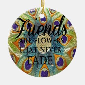 Demonios: Flores que nunca se descoloran Ornamentos De Navidad
