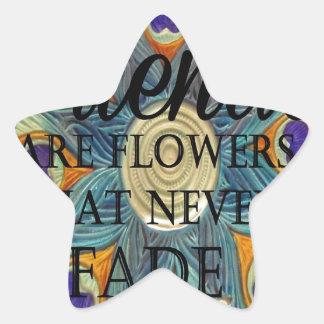 Demonios: Flores que nunca se descoloran Calcomanias Forma De Estrella