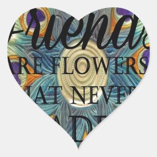 Demonios: Flores que nunca se descoloran Pegatina En Forma De Corazón