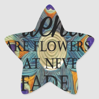 Demonios: Flores que nunca se descoloran Pegatina En Forma De Estrella