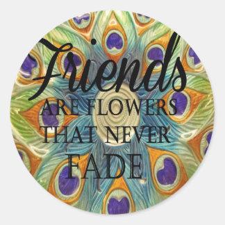 Demonios: Flores que nunca se descoloran Pegatina Redonda