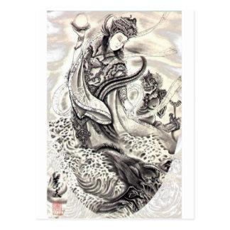 Demonios japoneses postales