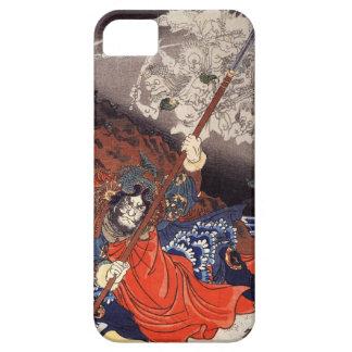 Demonios que luchan del samurai iPhone 5 Case-Mate coberturas