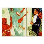 Demonios y diablos mágicos del mago del vintage tarjeta
