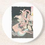 Demonios y fantasmas japoneses posavasos personalizados