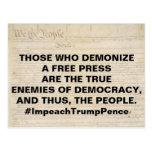 Demonize a Free Press True Enemy of People Postcard