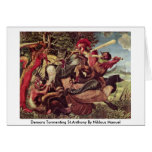 Demons Tormenting St.Anthony By Niklaus Manuel Greeting Card