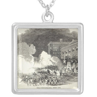 Demonstration at Jersey City Silver Plated Necklace