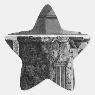 Demonstration of cross-section diameter star sticker