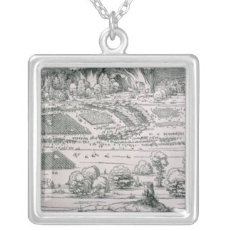 Demonstration of defensive measure silver plated necklace