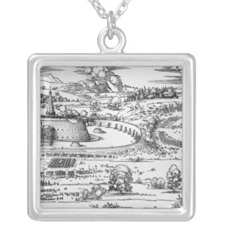 Demonstration of defensive measures silver plated necklace
