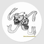 DemonTheatricsOrigional- sketch Classic Round Sticker