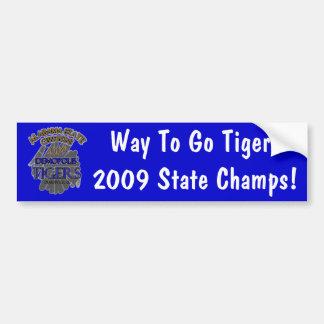 Demopolis Tigers 2009 Alabama State Champions! Car Bumper Sticker