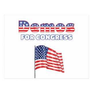 Demos for Congress Patriotic American Flag Postcard