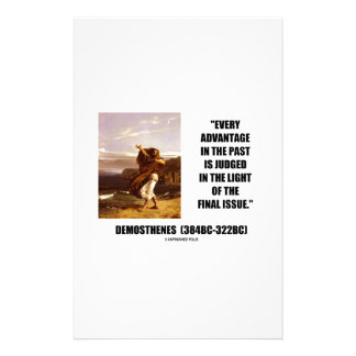 Demosthenes Advantage Judged Final Issue Quote Stationery