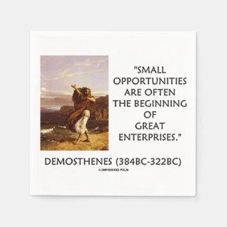 Demosthenes Small Opportunities Great Enterprises Napkin