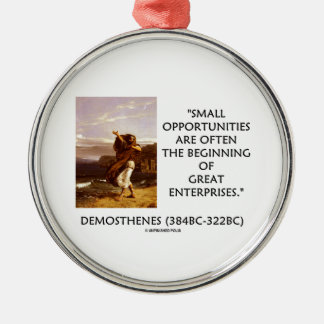 Demosthenes Small Opportunities Great Enterprises Christmas Tree Ornament