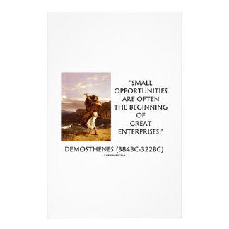 Demosthenes Small Opportunities Great Enterprises Custom Stationery