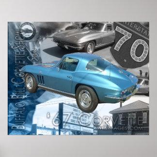Demostración 1967 del Corvette de Bill del Corvett Poster