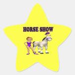 Demostración 2 del caballo calcomanías forma de estrellaes