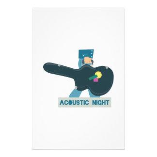 Demostración acústica de la caja de la guitarra papelería de diseño