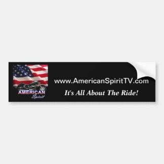 Demostración americana de la motocicleta del alcoh pegatina para auto