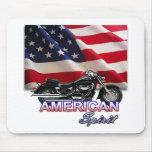 Demostración americana de la motocicleta del alcoh alfombrillas de raton