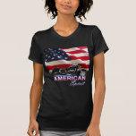 Demostración americana de la motocicleta del camisetas