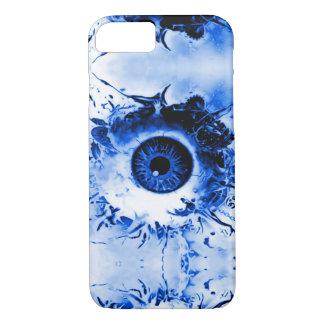 Demostración azul del horror del vigilante del ojo funda iPhone 7