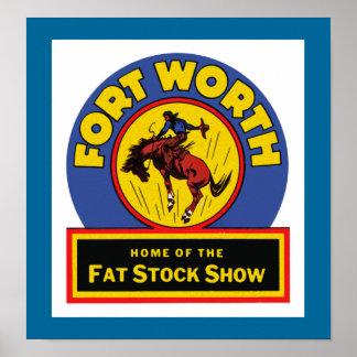 Demostración común gorda de Fort Worth Poster