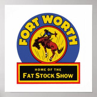 Demostración común gorda de Fort Worth Póster