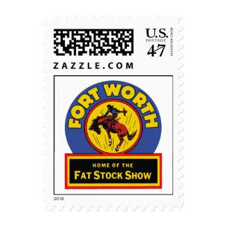 Demostración común gorda de Fort Worth Sellos Postales