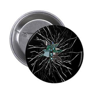 Demostración de cristal agrietada de la electrónic pins