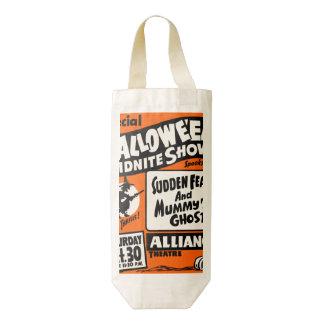 Demostración de Halloween Midnite Bolsa Para Botella De Vino Zazzle HEART