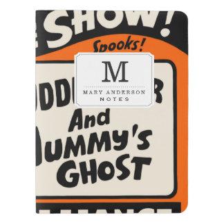 Demostración de Halloween Midnite Funda Para Libreta Y Libreta Extra Grande Moleskin