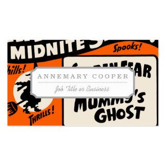 Demostración de Halloween Midnite Tarjetas De Visita