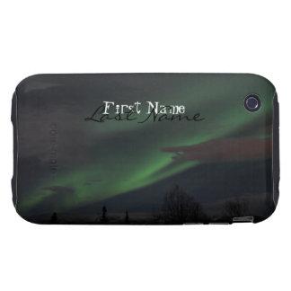 Demostración de la aurora boreal; Personalizable Carcasa Resistente Para iPhone