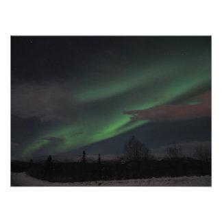Demostración de la aurora boreal fotografias