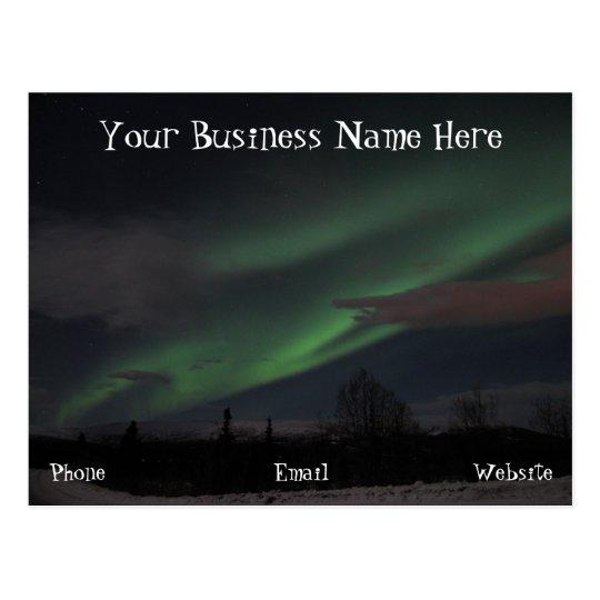 Demostración de la aurora boreal; Promocional Postales