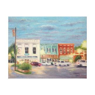 Demostración de la luz de la ciudad natal impresión en lienzo
