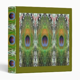 Demostración de la pluma del pavo real carpeta 2,5 cm