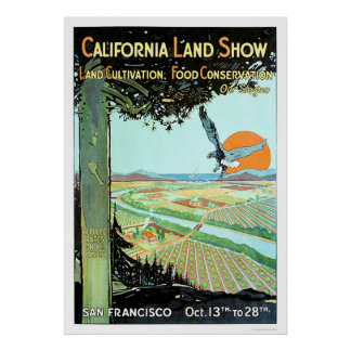 Demostración de la tierra de California en San Fra Poster