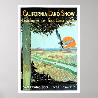 Demostración de la tierra de California en San Fra Póster