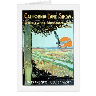 Demostración de la tierra de California en San Tarjeta De Felicitación