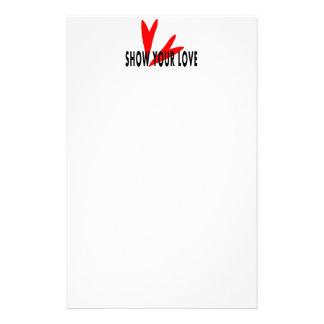 demostración de papel sus corazones rojos del amor papelería personalizada