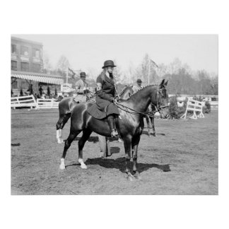 Demostración del caballo, 1914 poster