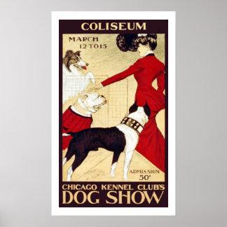 Demostración del club de la perrera de Chicago del Póster