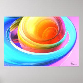Demostración del color poster
