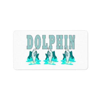 Demostración del delfín etiquetas de dirección