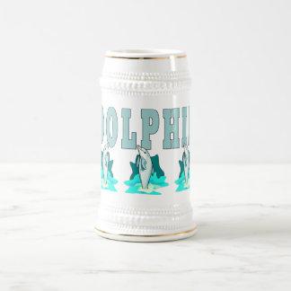 Demostración del delfín jarra de cerveza